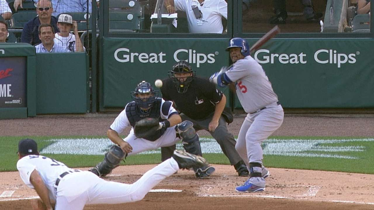 Ryu unable to hold lead as Dodgers routed in Detroit
