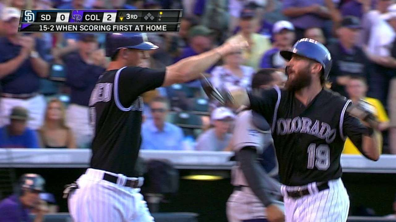 Blackmon's blast, Morales' arm lift Rockies
