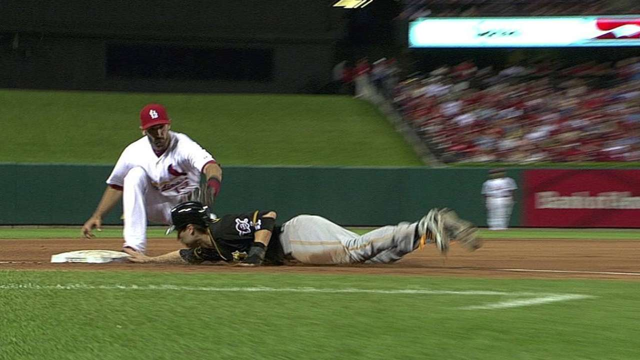 Pirates see baserunner erased following review
