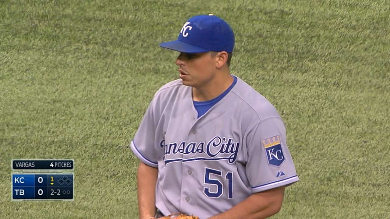 Vargas eyes return to KC's rotation vs. Tribe
