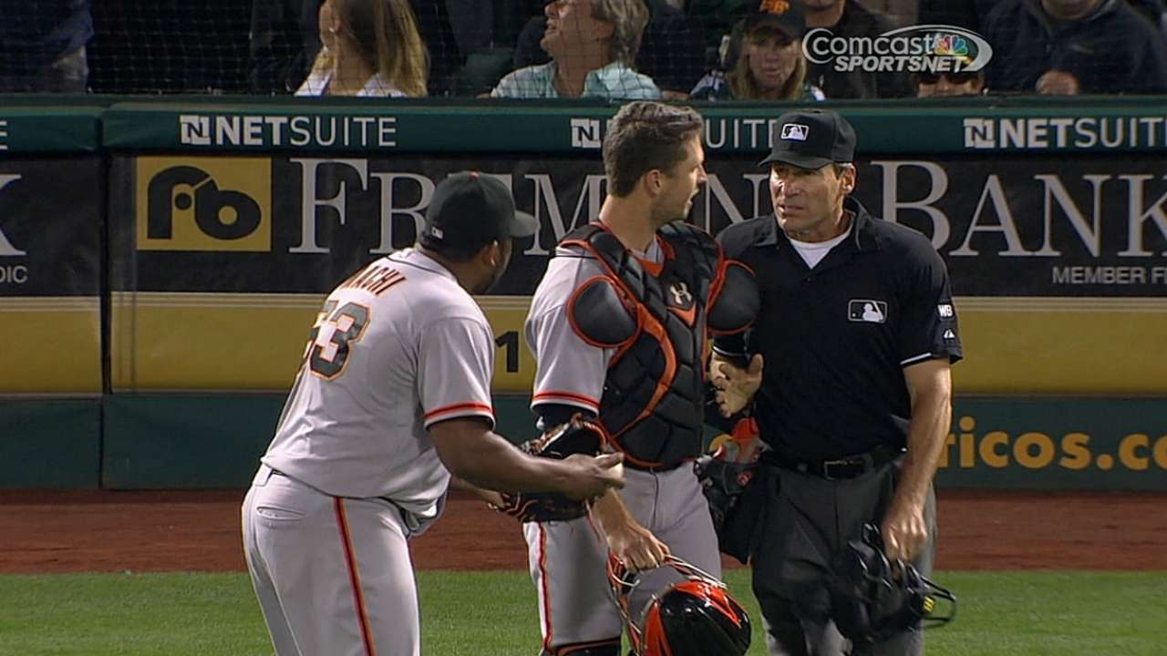 Machi ejected after disputing balk call in eighth