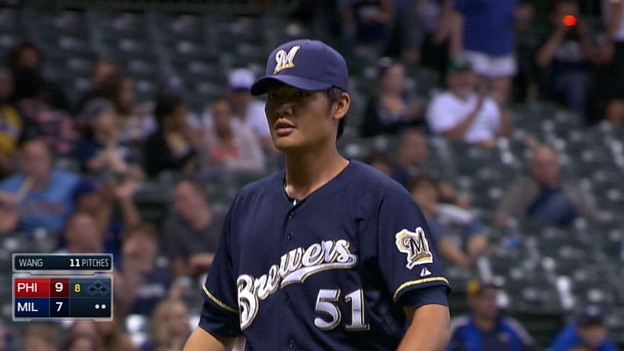 Brewers mum on plan for Wang, September callups