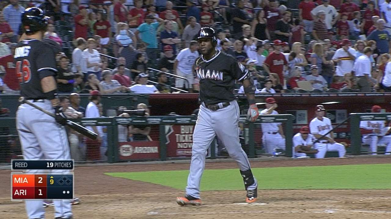 Ozuna extends streak and delivers clutch homer
