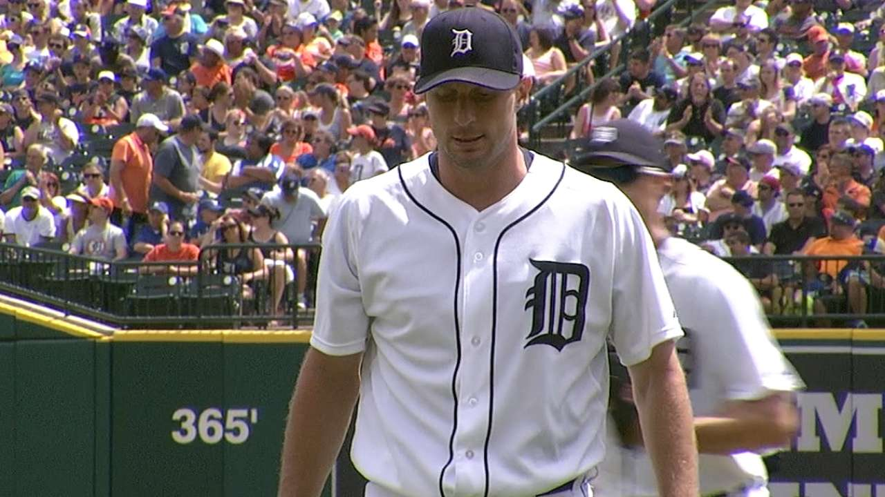 Scherzer a spectator for crucial set in KC