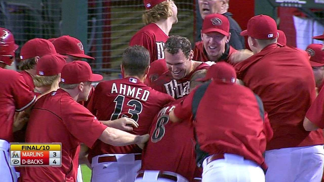 D-backs reaccionan en la 10ma y hunden a Marlins