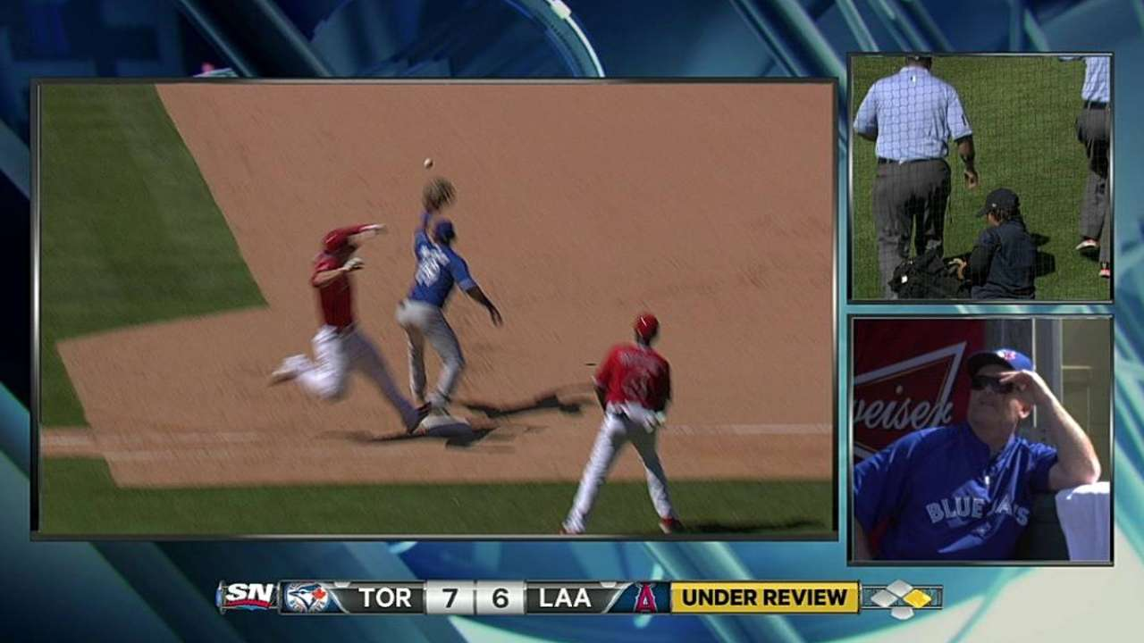 Fourth replay magnified in Angels-Blue Jays finale