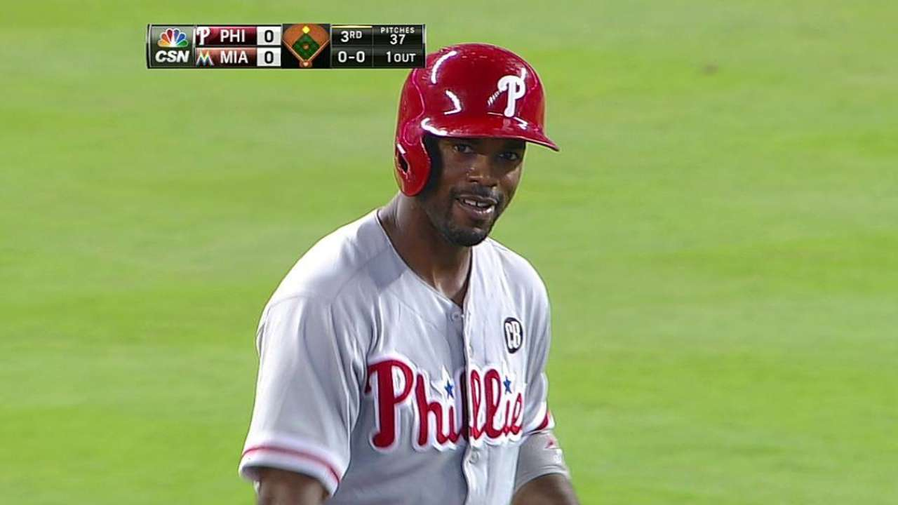 Rollins passes Ashburn for second on Phils' hits list