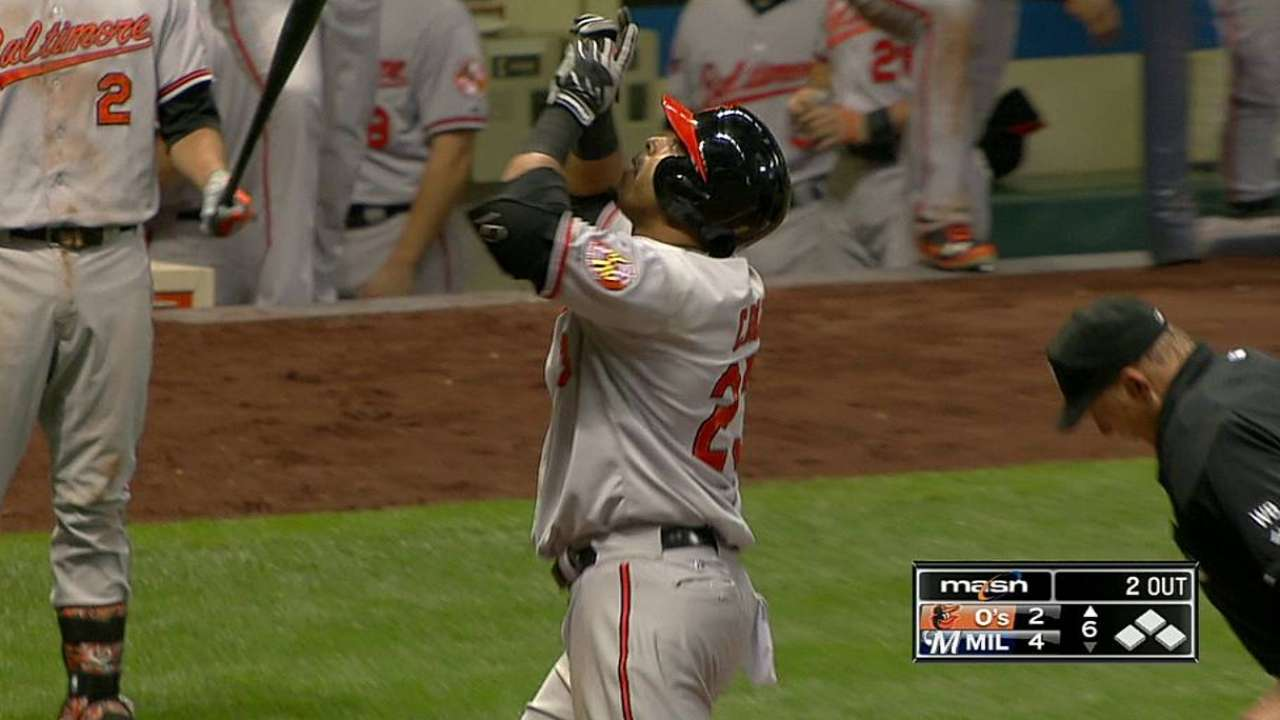 Cruz hits pair of homers, but O's can't rally