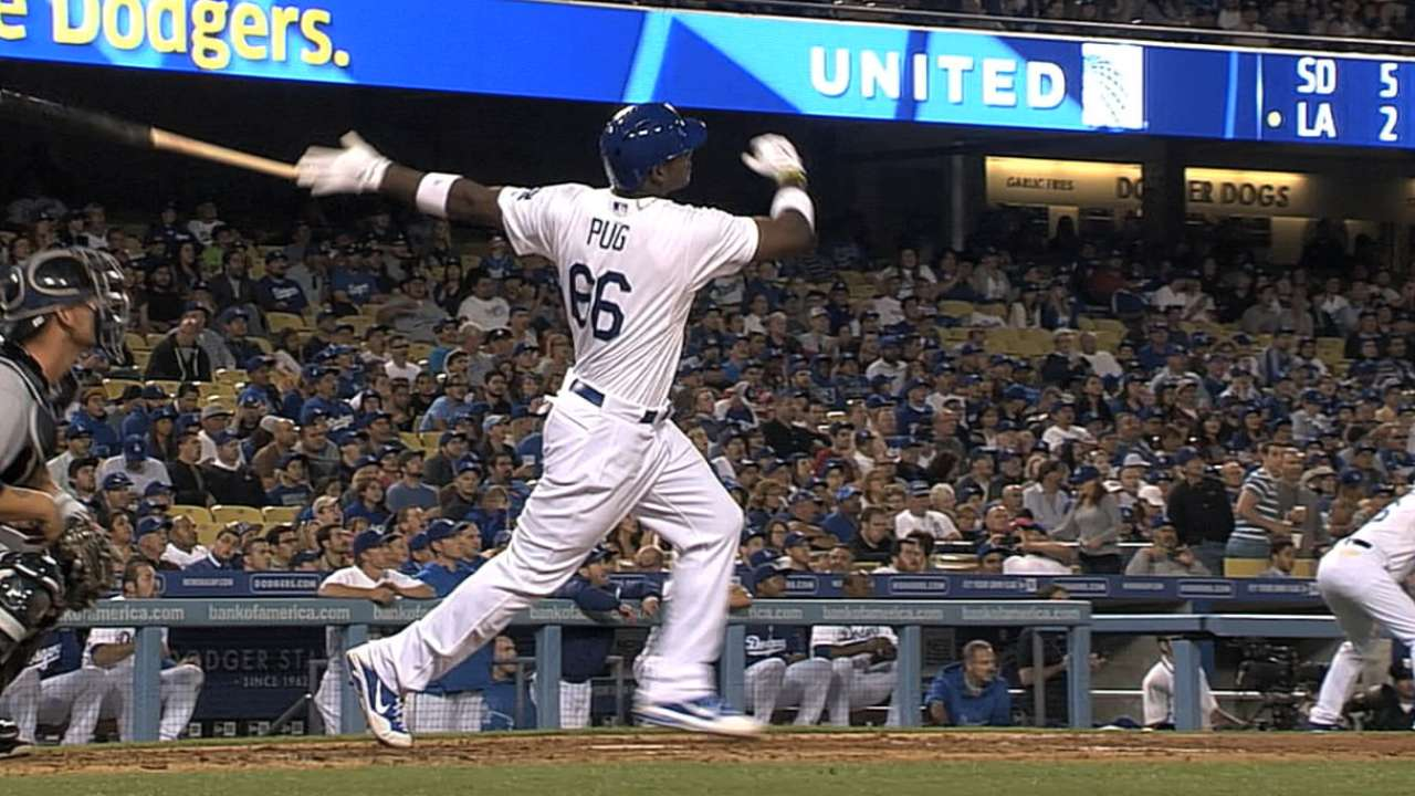 Year after startling debut, Puig hasn't slowed