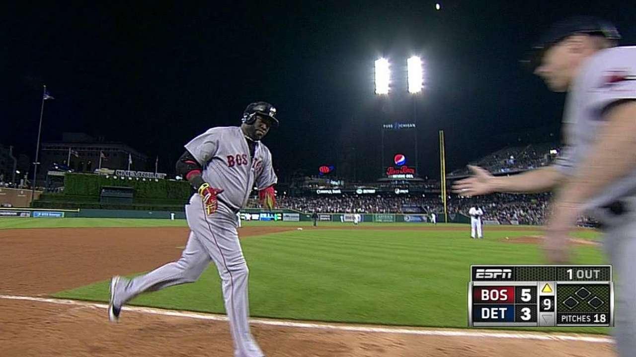 Cañonazo de Ortiz hizo ganar a Boston en Detroit