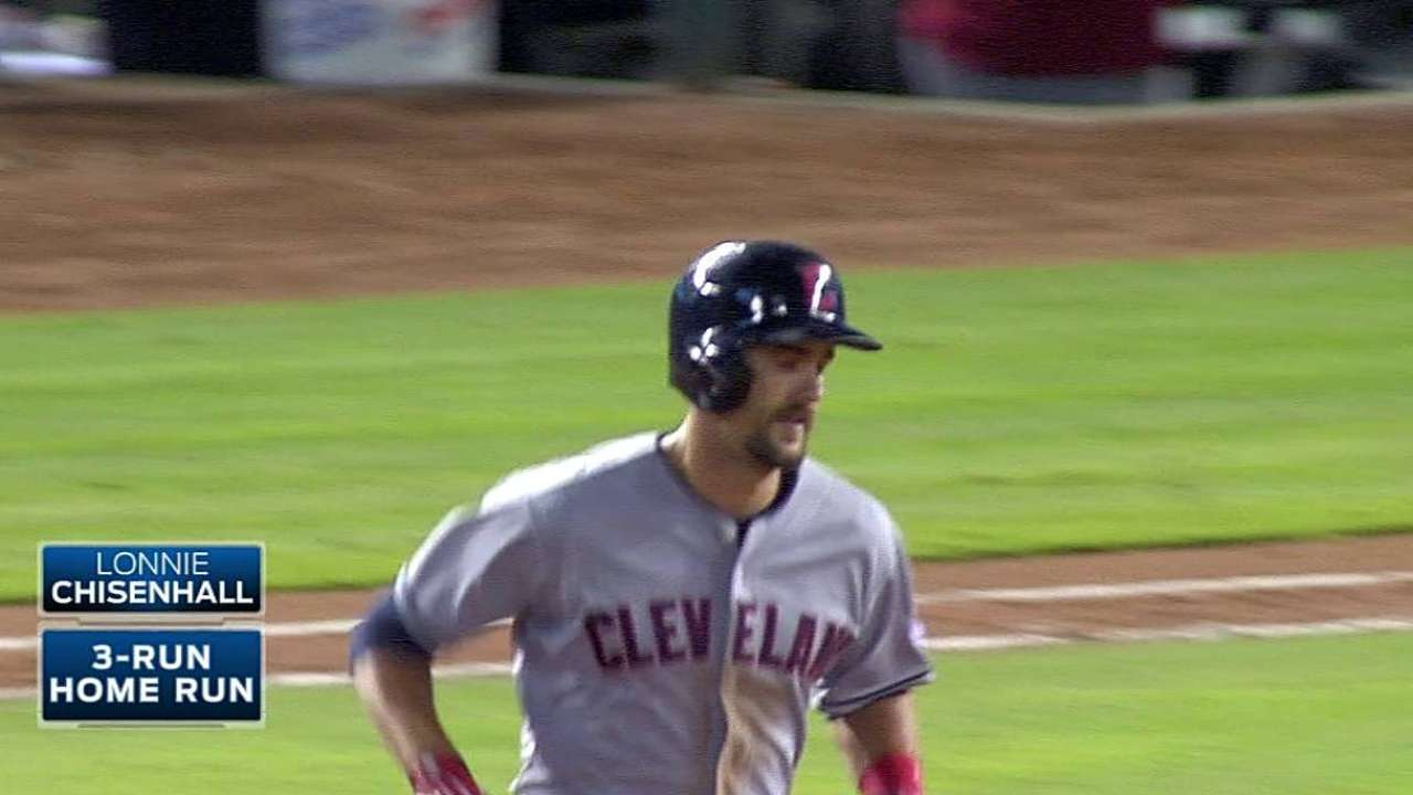 Chisenhall's career night leads Tribe's rout of Rangers