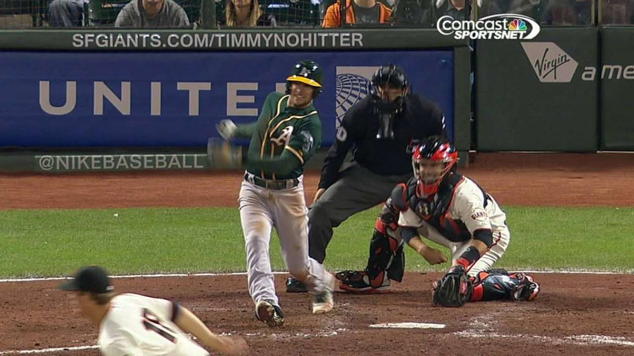 Lowrie's luck turning around at the plate