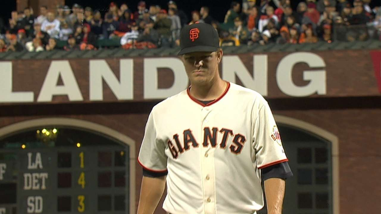 Cain drops to fifth in Giants' post-break rotation