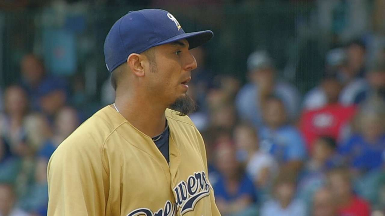 Brewers fall on big inning after Garza's no-hit bid