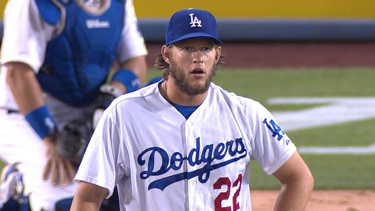 Kershaw's scoreless run snapped at 41 innings