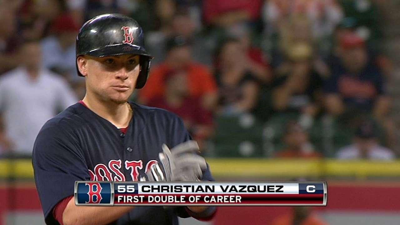 Vásquez remolca 3 en triunfo de Boston vs. Astros