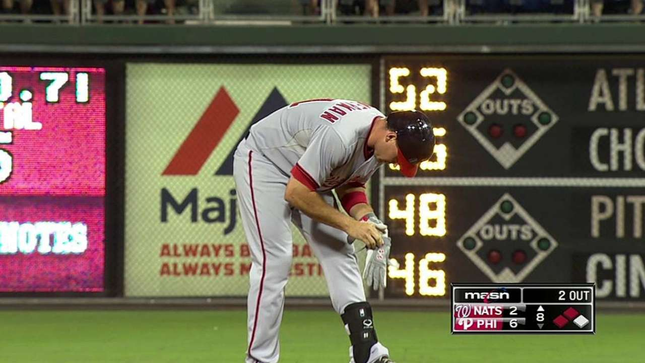 Nats fall to Phils after Zimmermann's early exit
