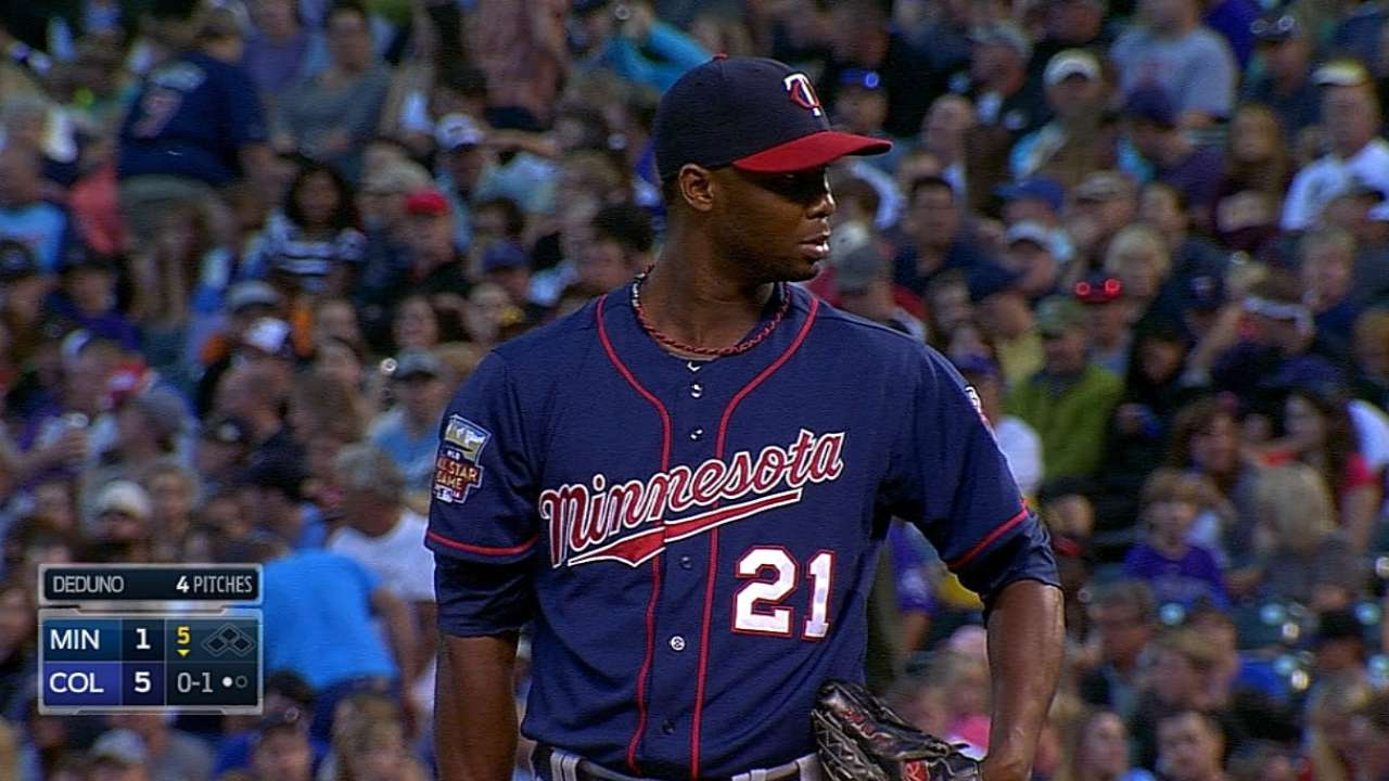 Deduno headed from Twins to Astros on waiver claim