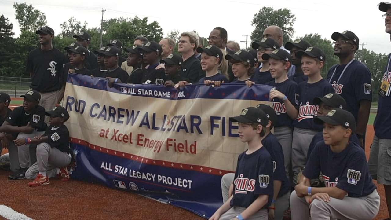 Field dedicated to Carew in Minneapolis