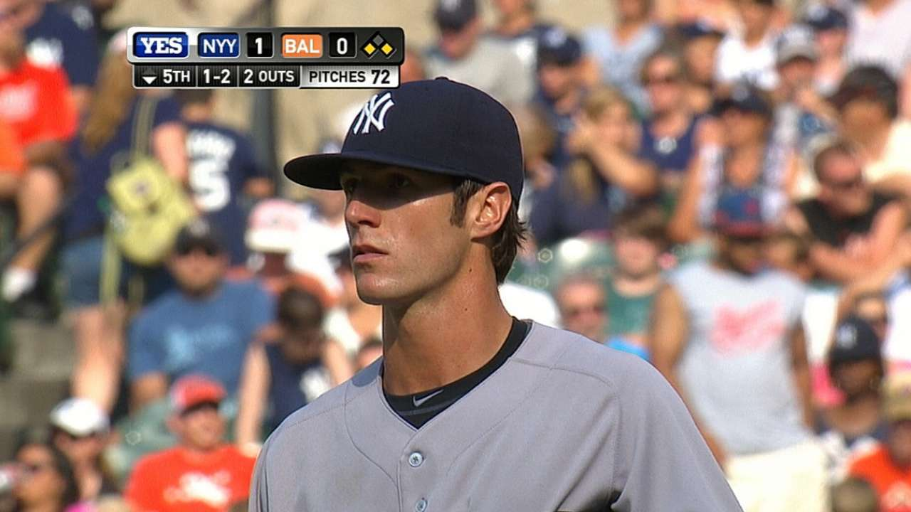 Yanks rookie Greene tops O's with vet's poise