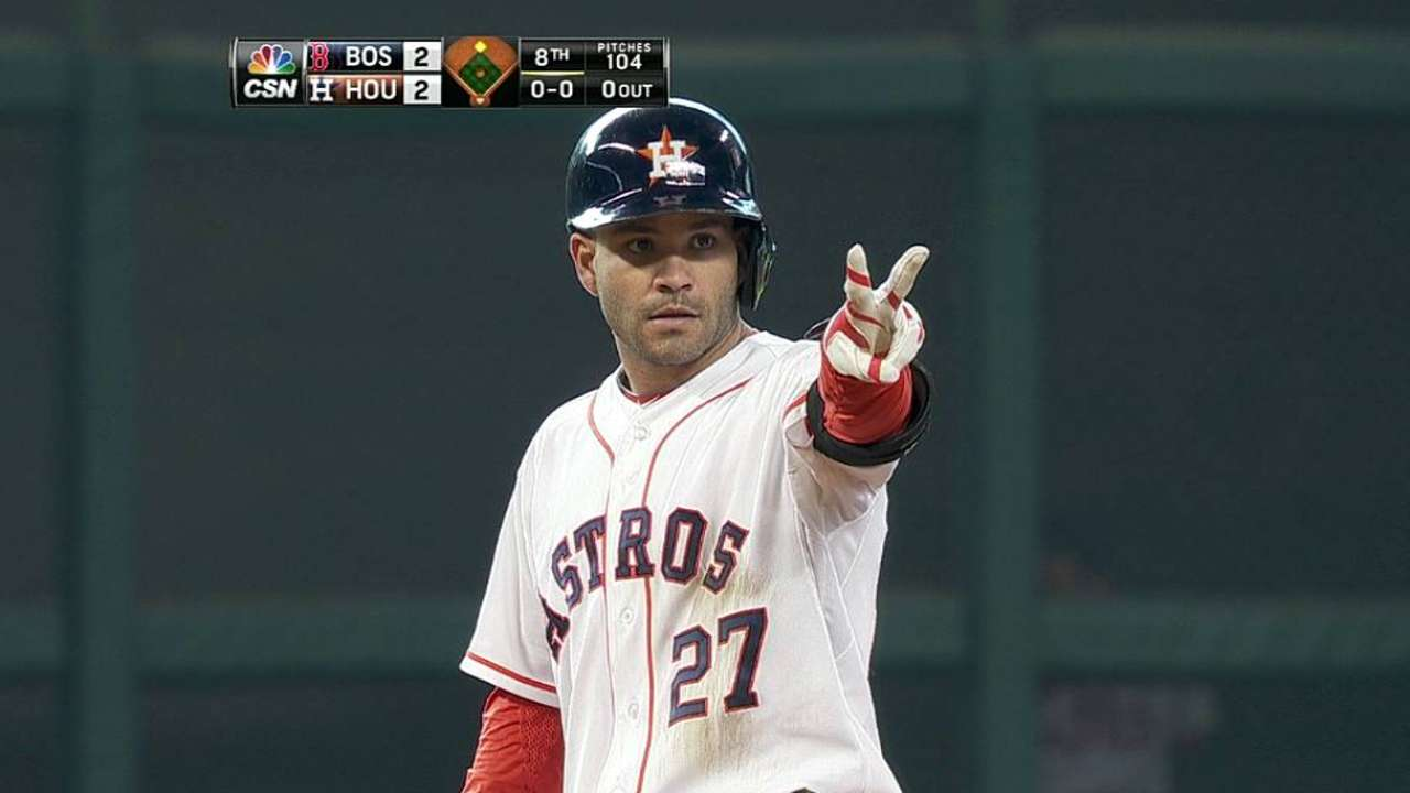 Altuve sets new record with eighth-inning double