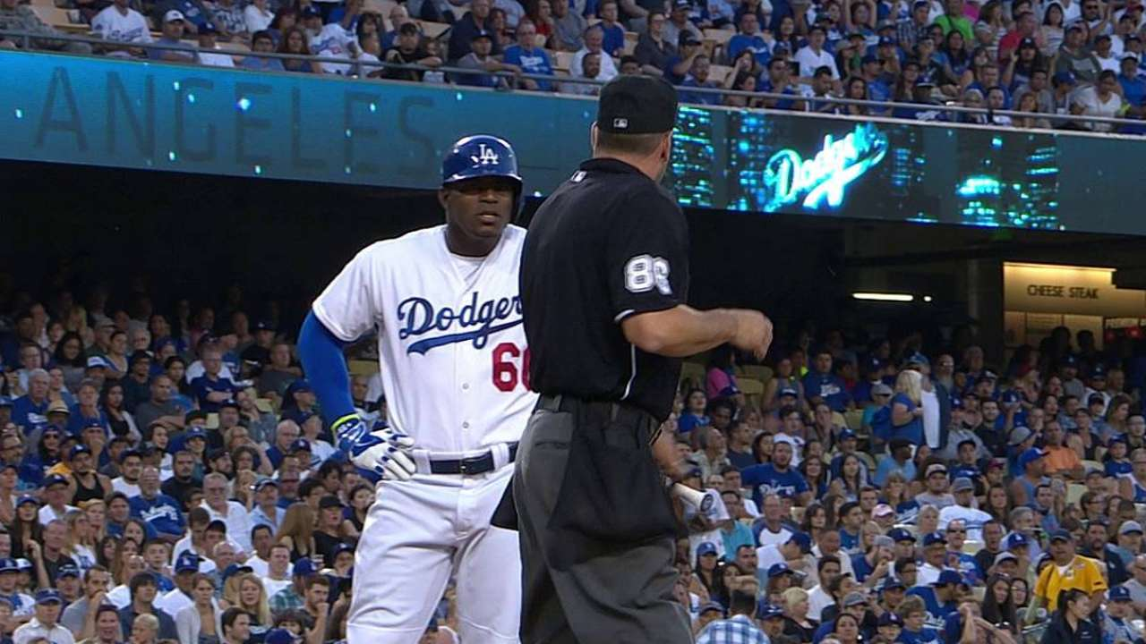 Name-calling earns Puig his second ejection