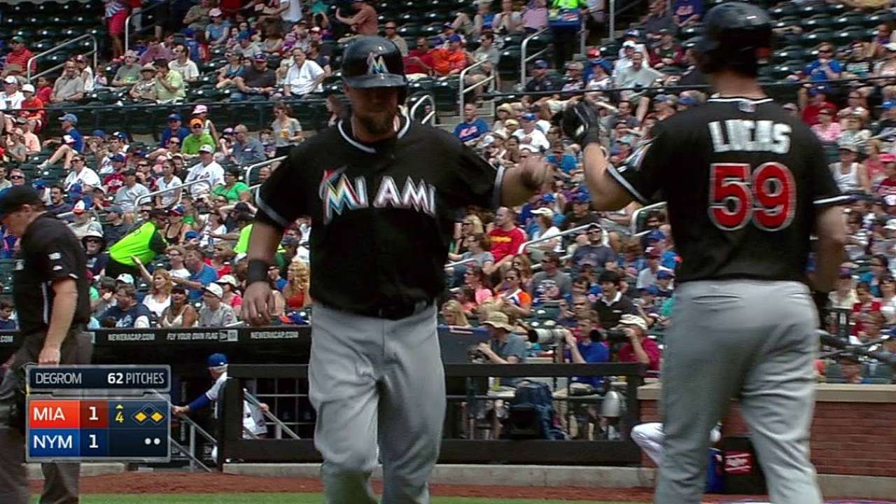 Marlins can't end tough road trip on high note