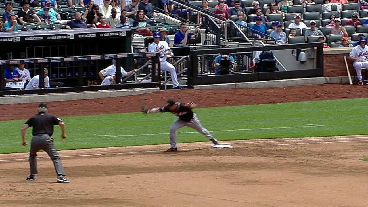 Marlins' challenge leads to overturn at first