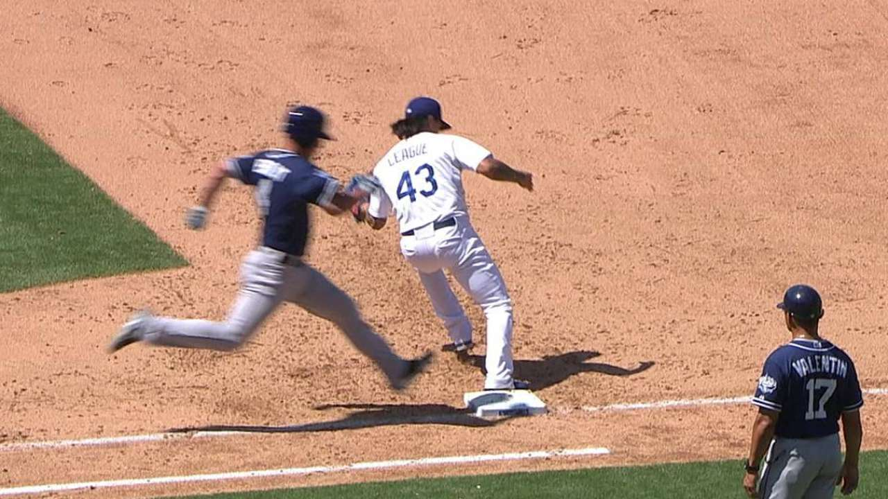 Dodgers unable to complete double play after review