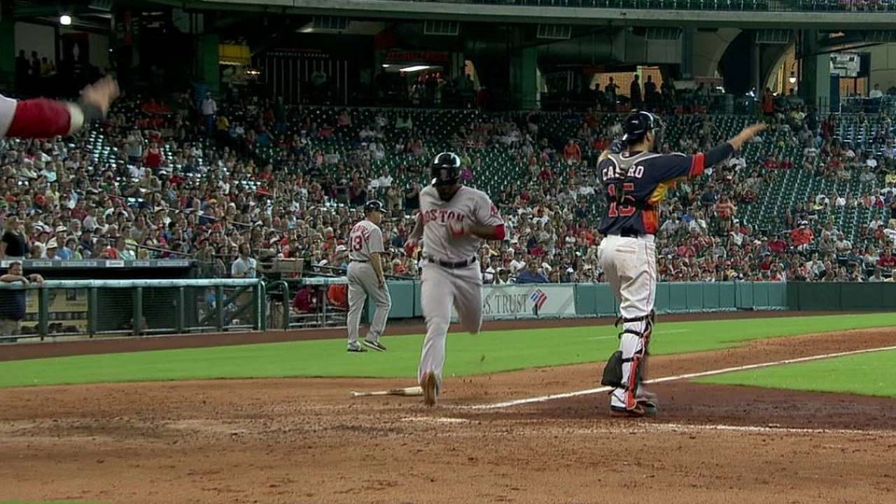 Vazquez impressing Red Sox in field, at plate