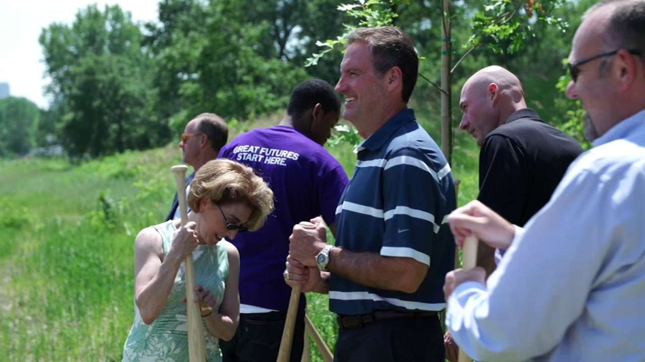 Twins break ground on St. Paul nature sanctuary