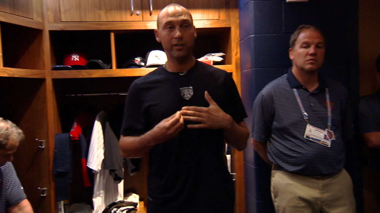 Jeter gives pregame speech to AL All-Stars