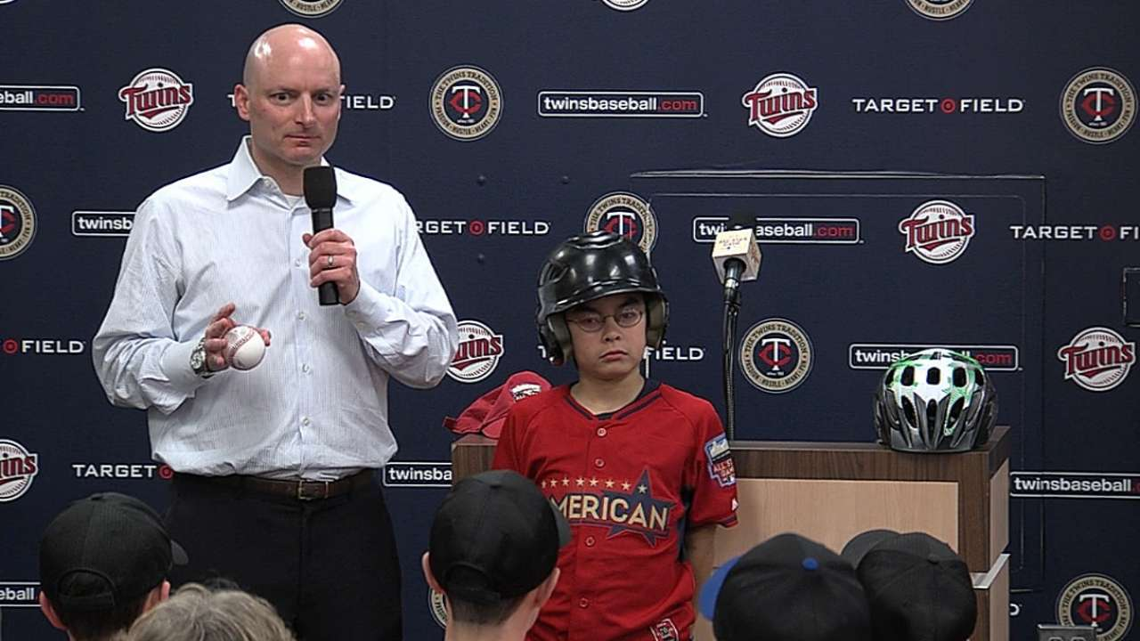 MLB, Twins team up to teach kids helmet safety