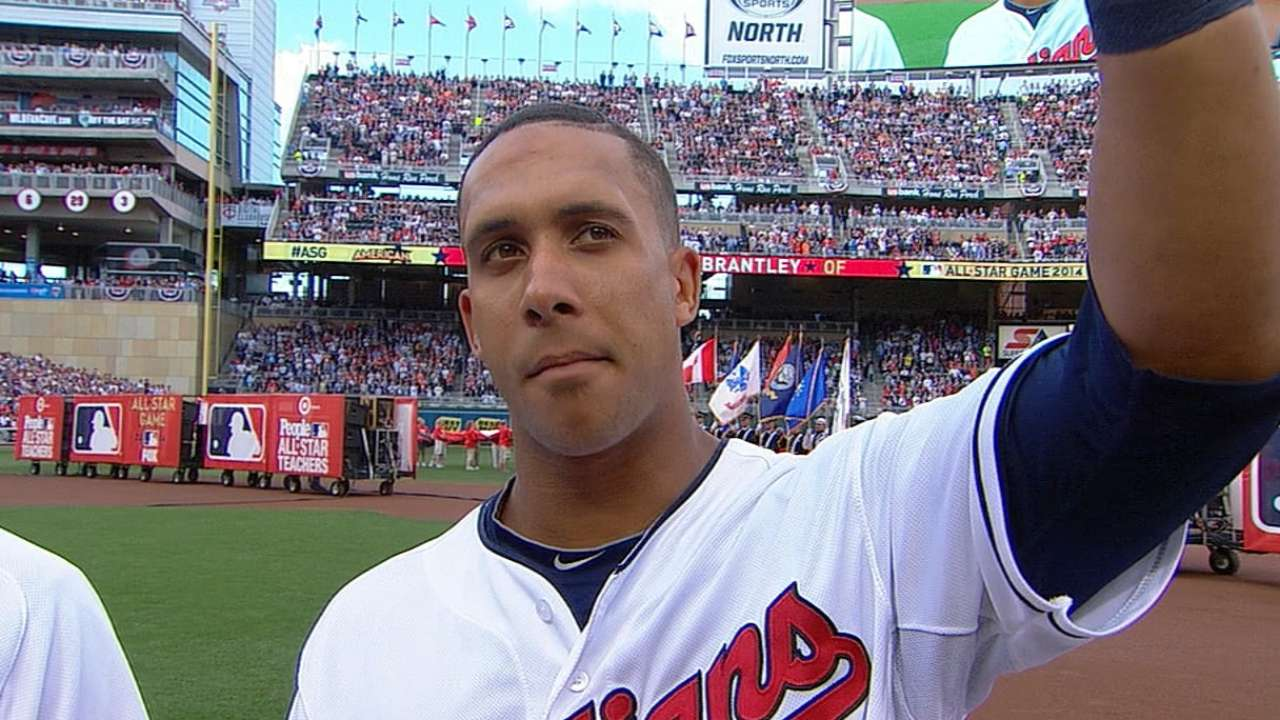 Brantley gets at-bat, Jeter autograph at All-Star Game