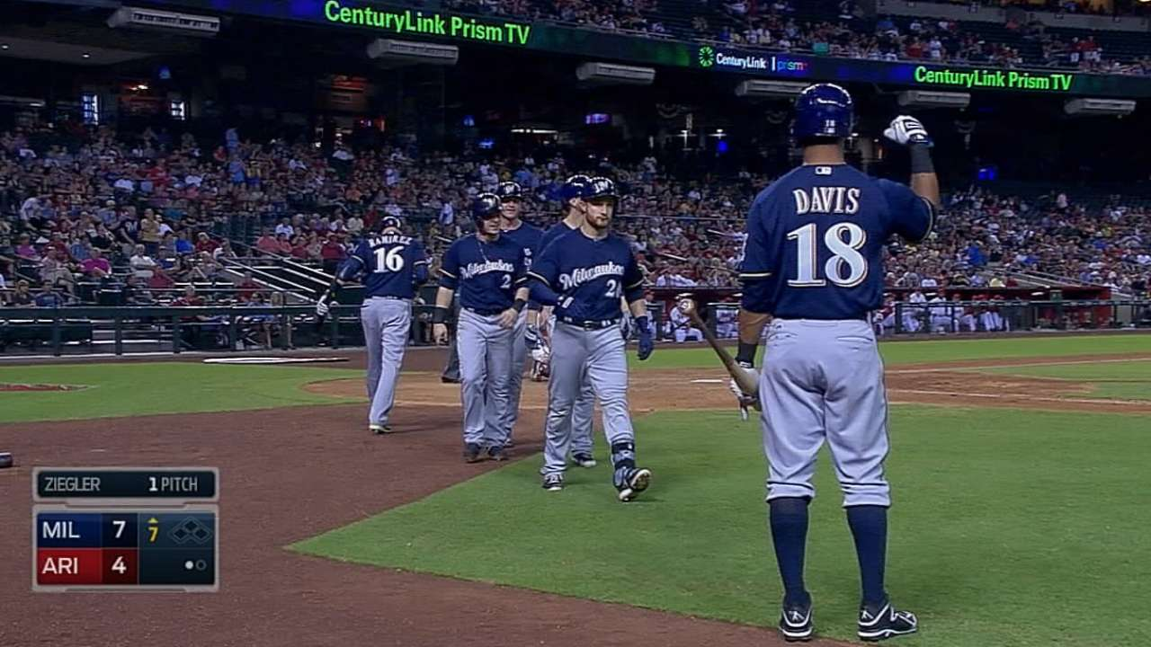 Brewers poised for second-half race in NL Central
