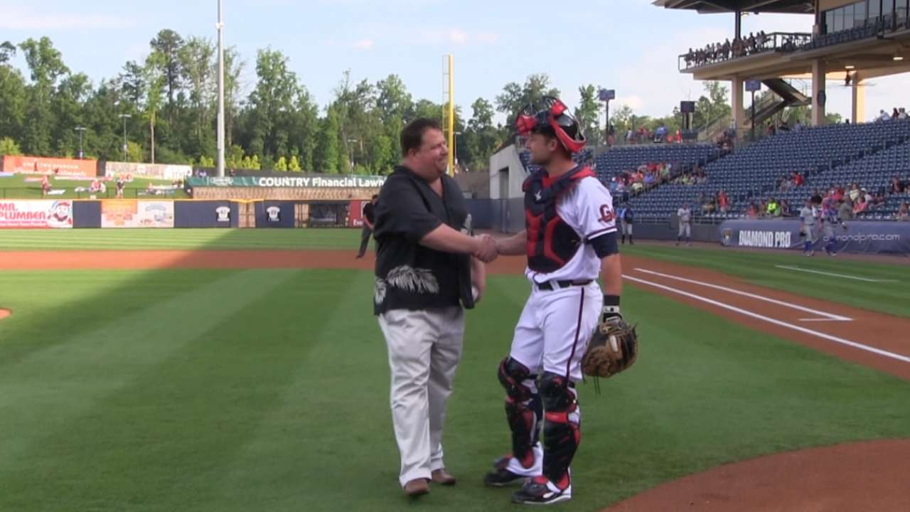 Braves reporter celebrated at Triple-A Gwinnett