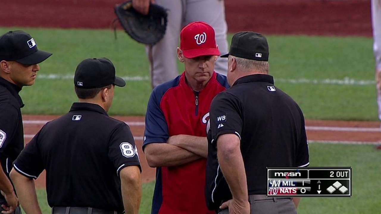 Interference call leads to confusion in Nats-Crew game