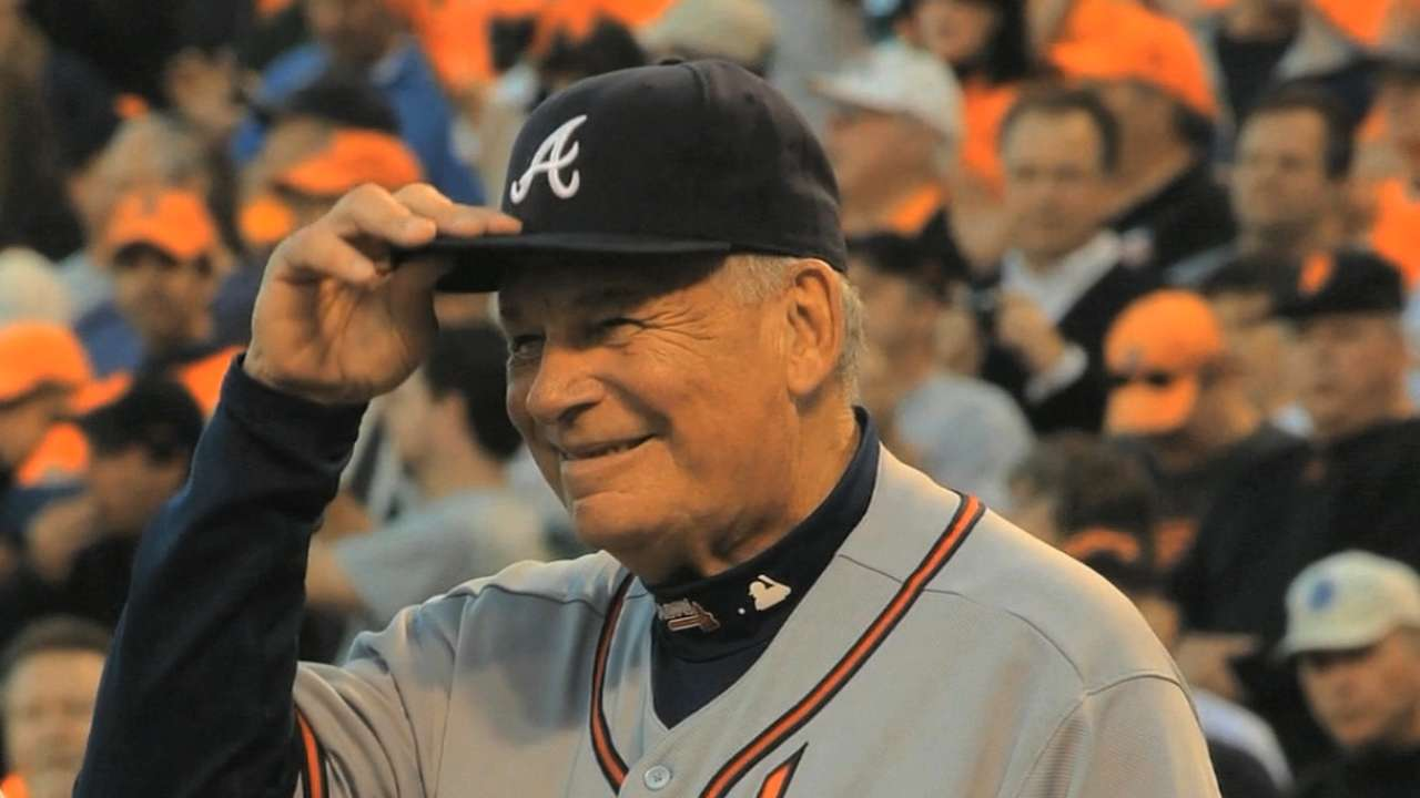 Cox grateful to enter Hall of Fame with Braves aces