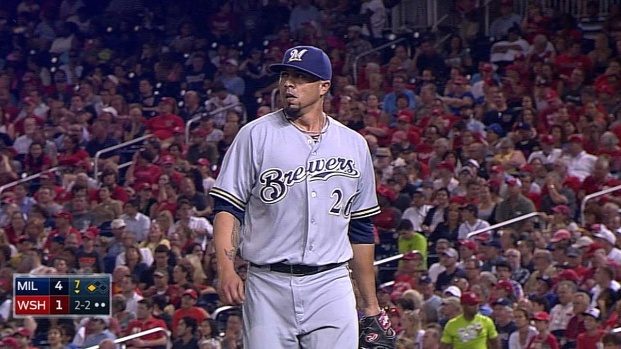 Lohse limits damage to lead Brewers past Nats