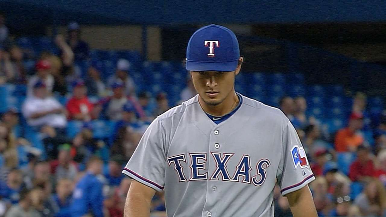 Darvish dominates the Blue Jays
