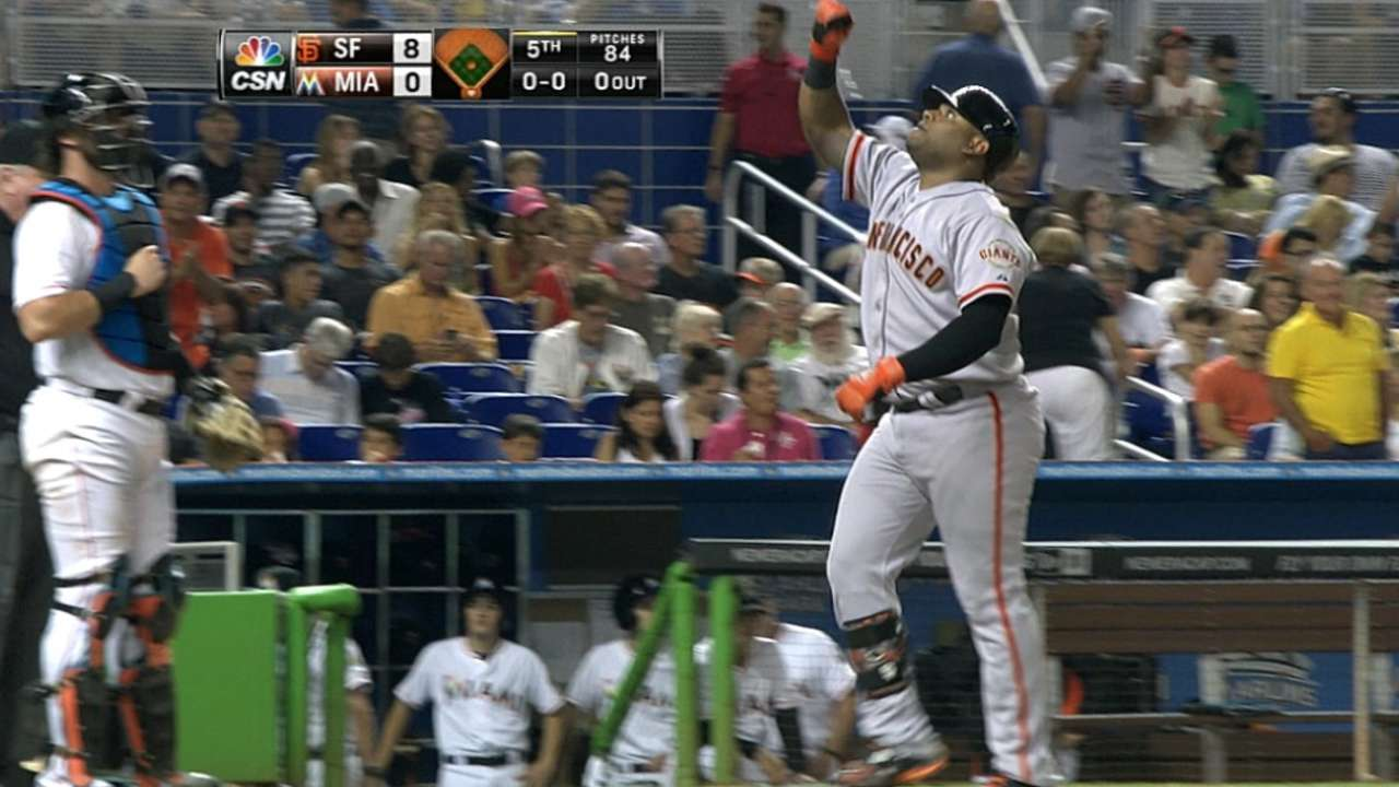 MadBum, Giants open second half with rout of Fish