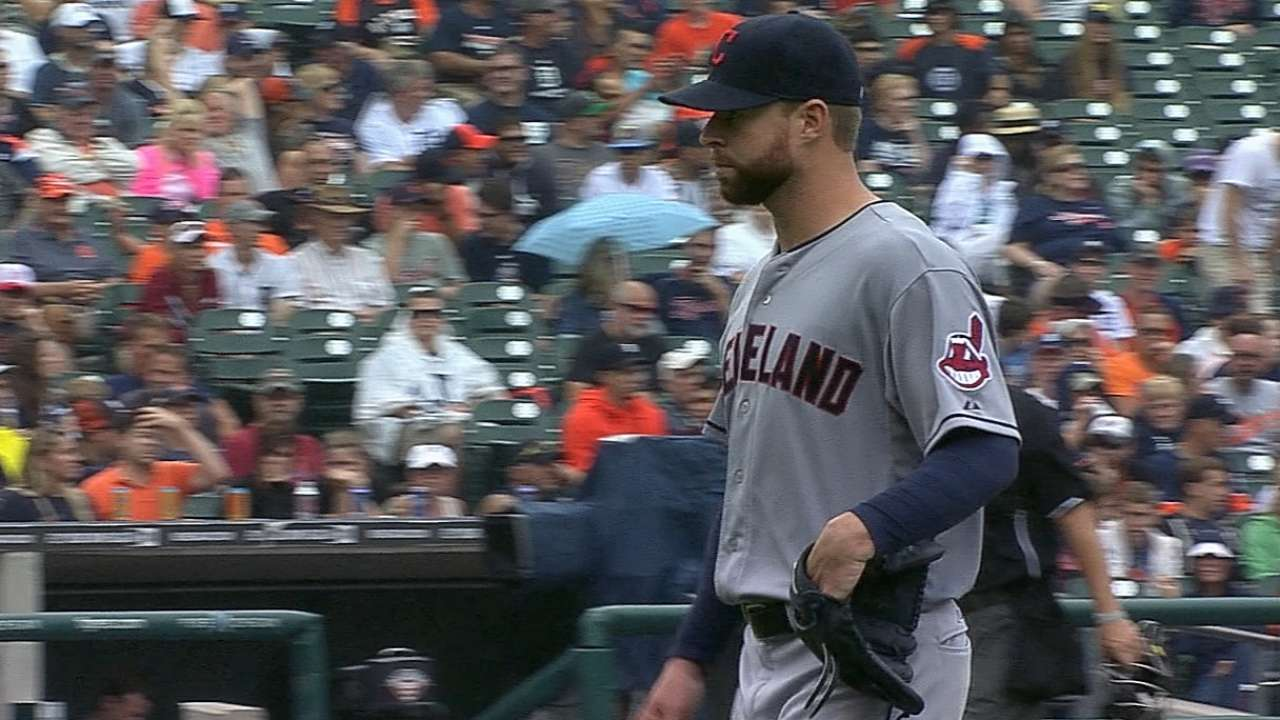 Kluber sets pace in Tribe's win over Tigers
