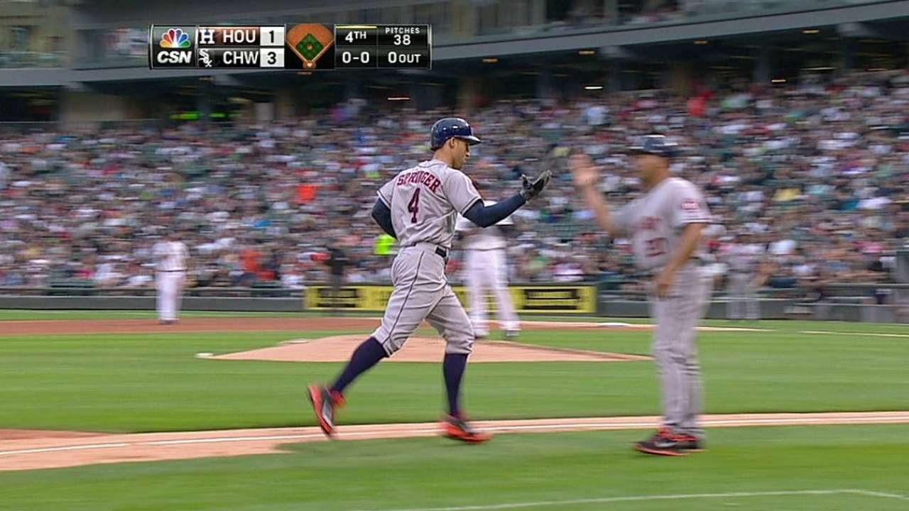 Springer needs to run full speed before rehab