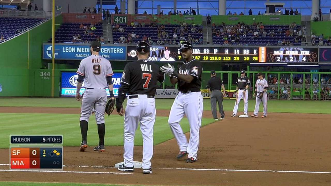 Valdespin providing spark to Marlins from the start