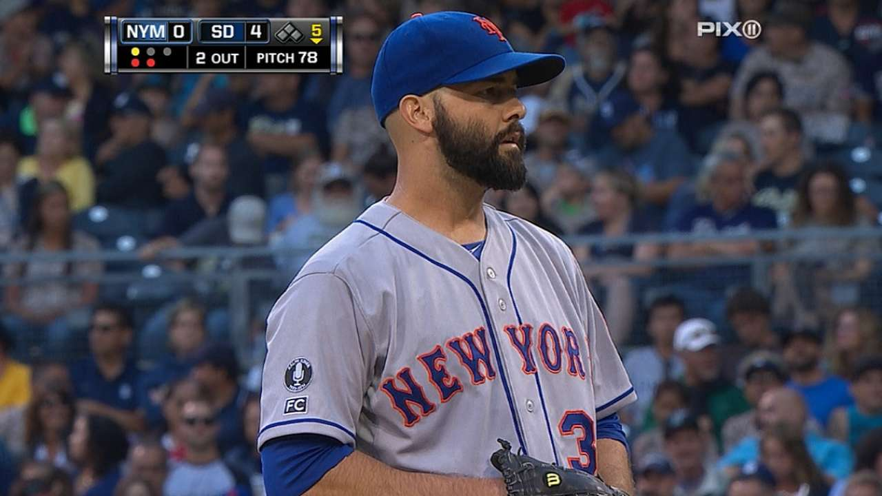 Off night for Mets results in loss to Padres