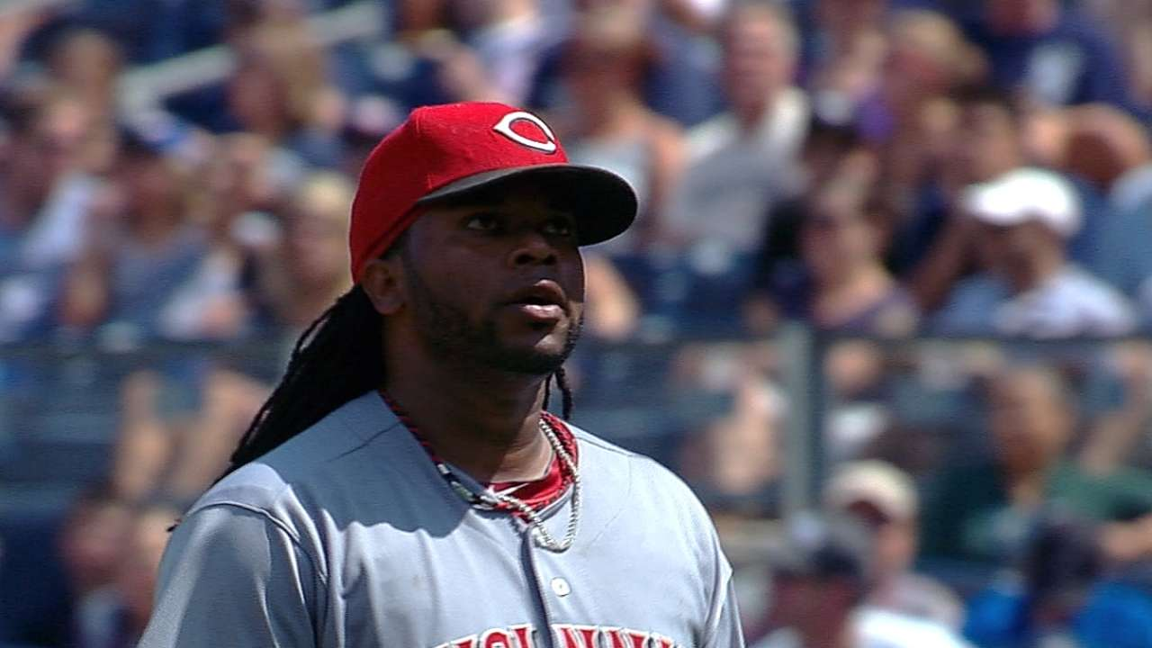 Quick exit with high pitch count a rarity for Cueto