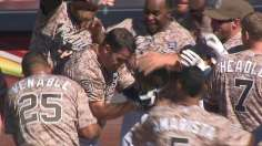 Padres walk off after Despaigne flirts with history