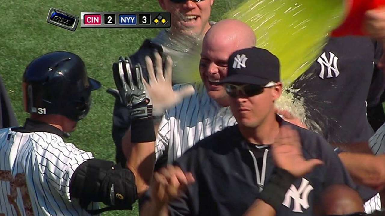 Yanks manufacture a walk-off sweep of Reds