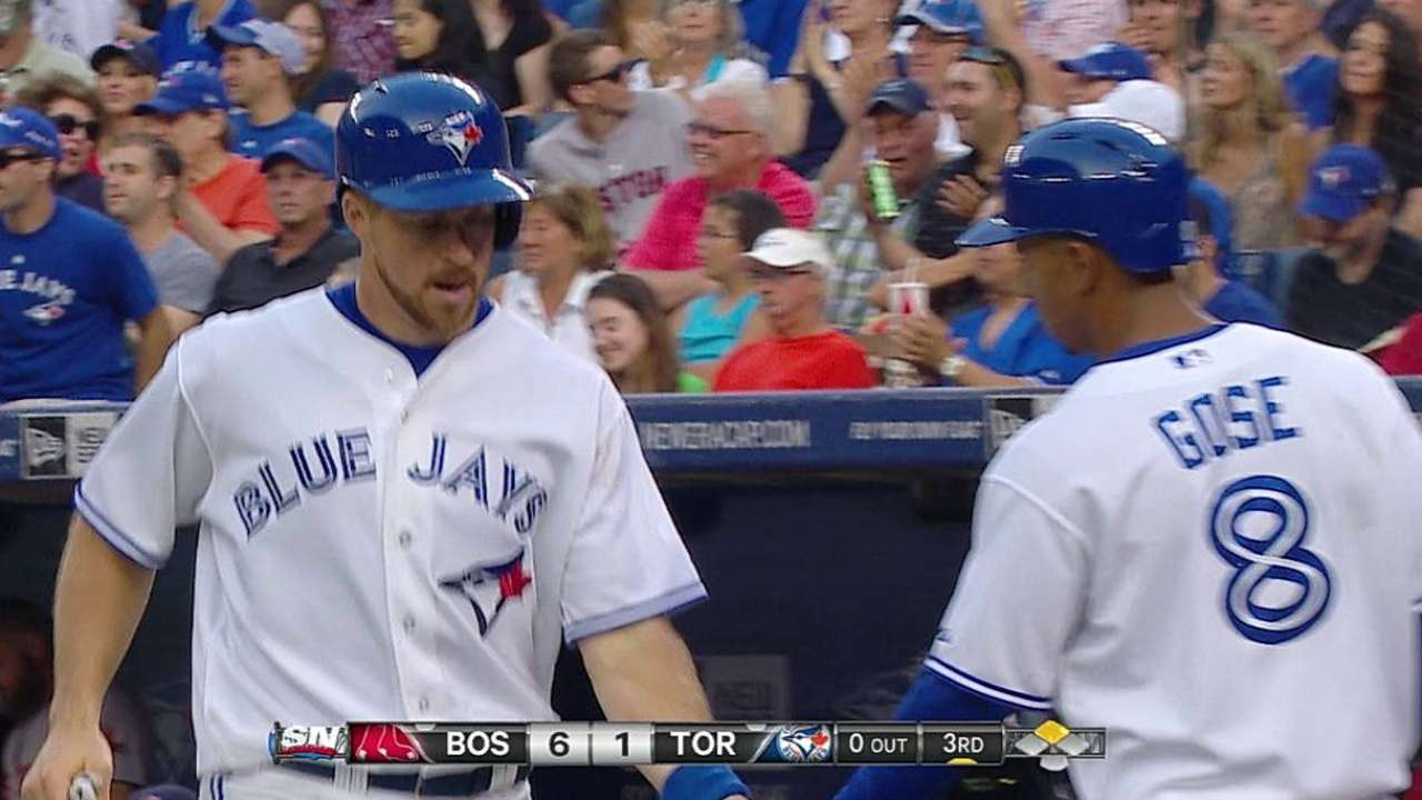 Blue Jays' hurlers can't contain Red Sox in blowout