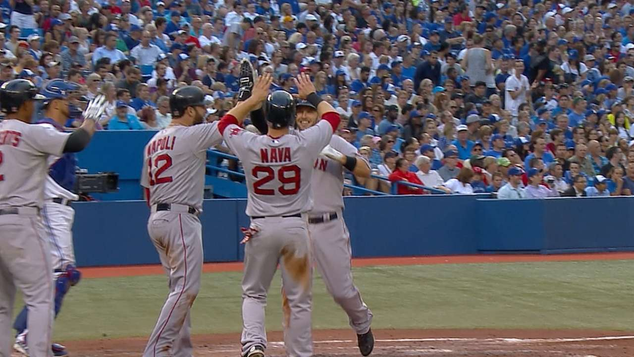 Red Sox stay hot, pound four homers in rout of Jays